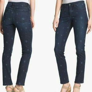 NYDJ Star Print Ankle Cut Skinny Jeans Size 4